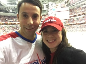 Adam and me at the Caps game