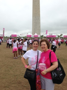 Mom and me at Race for the Cure DC
