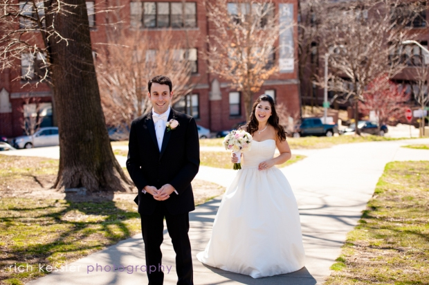 First Look Baltimore Wedding Federal Hill