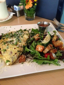donnas goat cheese omelette