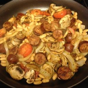 easy one skillet chicken sausage white bean