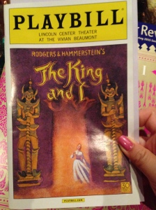 King and I broadway playbill