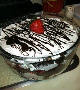 Strawberry Chocolate Trifle Potluck Dessert