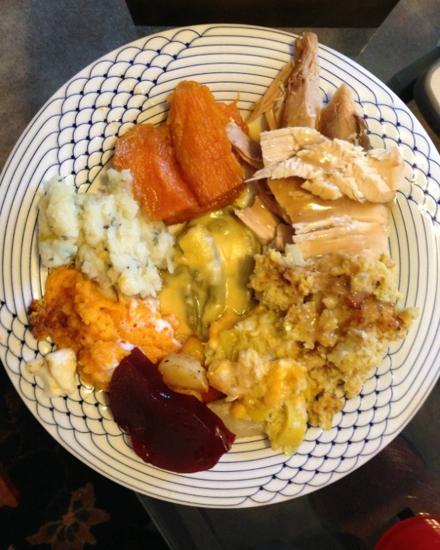 Thanksgiving Potluck Friendsgiving Recipe Plate