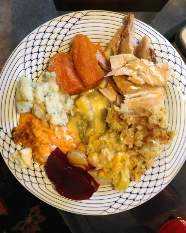 Thanksgiving Potluck Friendsgiving Recipe Plate