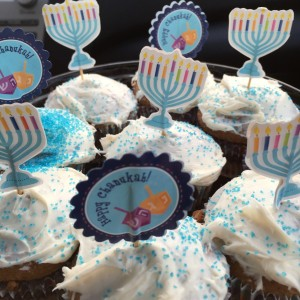 Chanukkah Hanukkah Cupcakes