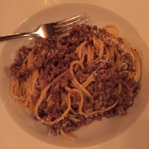 cinghiale dinner pasta
