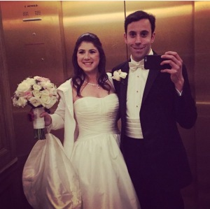elevator mirror pic baltimore wedding