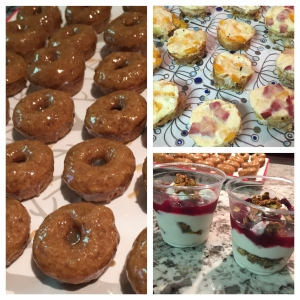 Holiday Brunch Donuts Egg Cups Yogurt