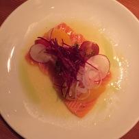 azumi salmon crudo
