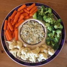 veggies and dip preakness appetizer