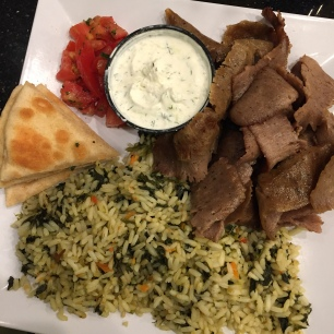 gyro platter with rice and pita samos baltimore