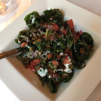 crispy spinach rasika dc