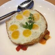 quail eggs over vegetables jaleo dc
