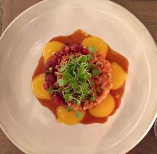 tuna salmon tartar alma latina cocina